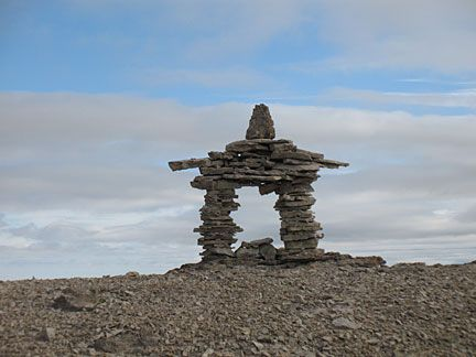 Space Shuttle Challenger Memorial Inukshuk, Devon Island ...