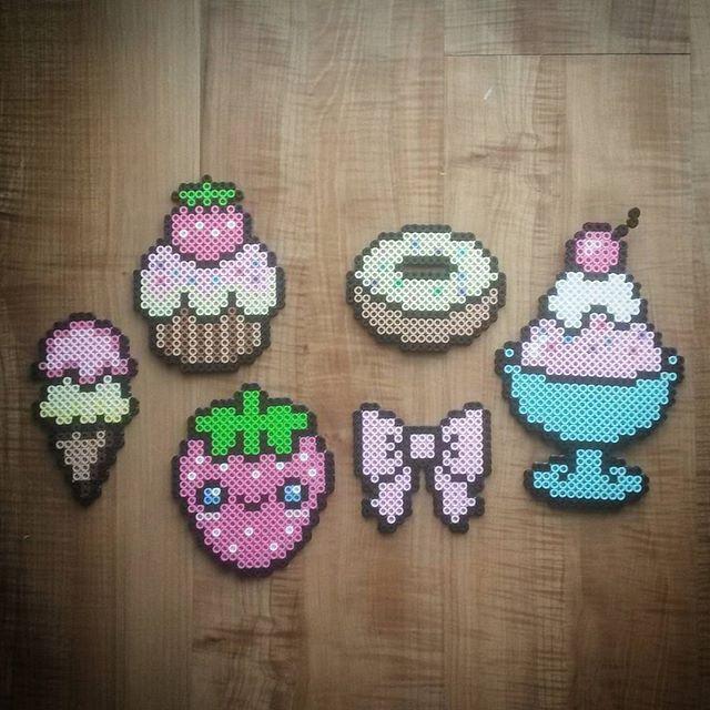 Cute Ice Cream Perler Beads