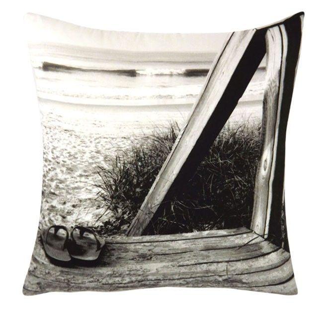 Seaforth 45x45cm Filled Cushion Black   Manchester Warehouse