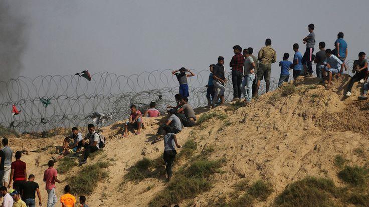 Tsahal emploie du gaz lacrymogène contre des manifestants palestiniens à Gaza (VIDEO)  ALERTE NAZIS EN PALESTINE