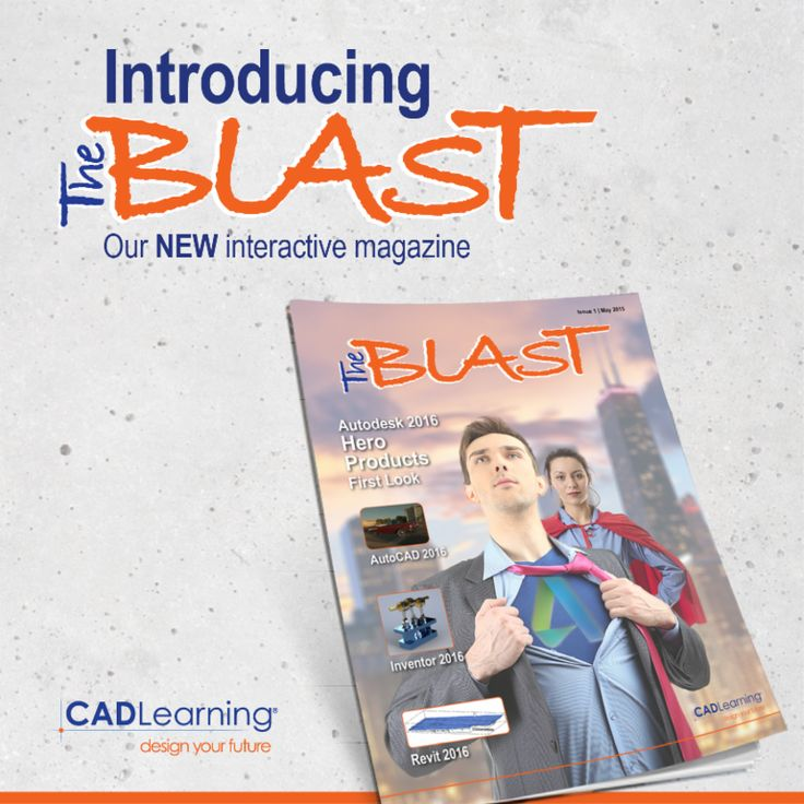 Check out what's new for 2016 in AutoCAD, Inventor and Revit!!!  http://files.cadlearning.com/epub/theblast/