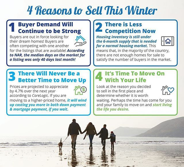 4 REASONS TO SELL THIS WINTER!  SOME HIGHLIGHTS: Buyer demand continues to outpace the supply of homes for sale which means that buyers are often competing with one another for the few listings that are available! Housing inventory is still under the 6-month supply needed to sustain a normal housing market. Perhaps the time has come for you and your family to move on and start living the life you desire. . . . . . . . . . #rotsart #coldwellbanker #coldwellbankerwest #forsale #clientbenefits #mthelix #sandiego #california #realestate #realestateagent #sandiegorealestate #seller #elcajon #ranchosandiego #jamul #alpine #lakeside #dreamhome #househunting #househunters #delcerrorealestate #contemporary #contemporaryhomes #contemporaryarchitecture #architecture #lamesa - posted by Steven Rotsart, Realtor https://www.instagram.com/stevenrotsart - See more San Diego Real Estate photos from Local San Diego Realtors at https://LocalRealtors.com/stream