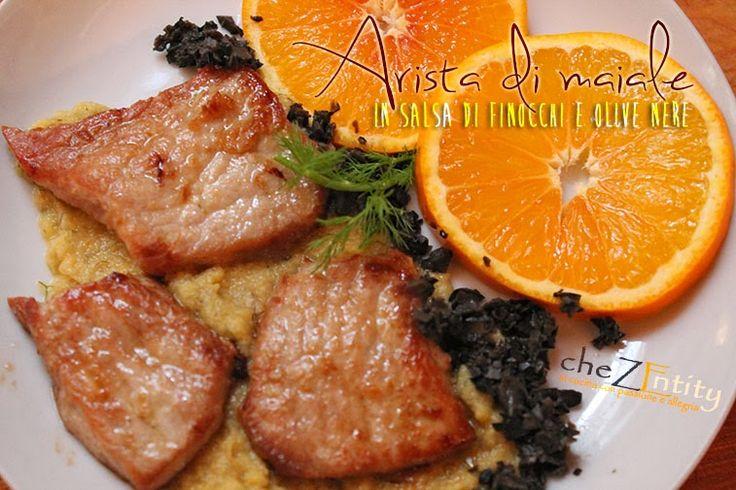 Chez Entity: Arista di maiale in salsa di finocchi e olive nere, e arance... solidali con l'AIRC