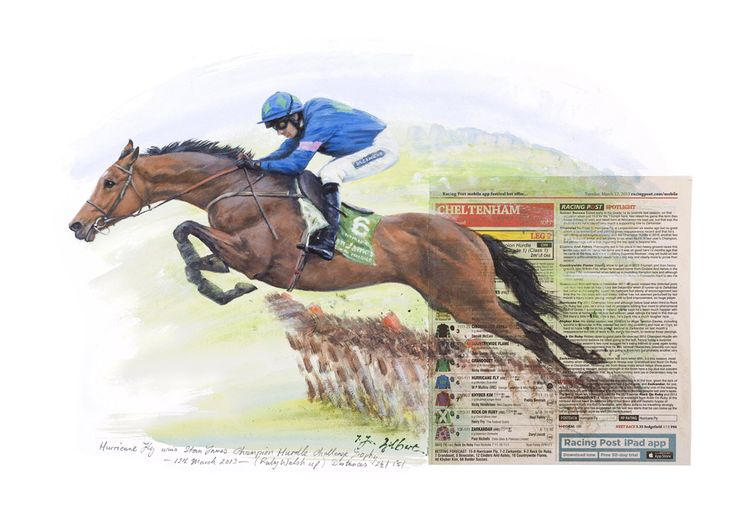 HURRICANE FLY Limited Edition Horse Racing Print by Equestrian Artist Terence Gilbert