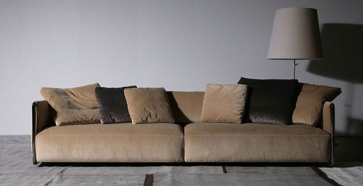 #Flexform #Edmond is #sofa featuring an epoxy-powder enamelled metallic frame.