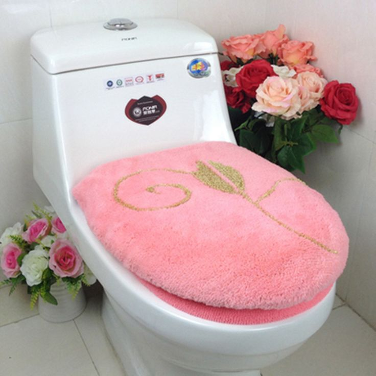 ==> [Free Shipping] Buy Best Orange Pink Red toilet seat cover sets bathroom mat toilet Online with LOWEST Price | 32644401549