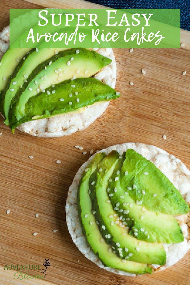 Super Easy Avocado Rice Cake Snack Recipe Adventureblooms Recipe Rice Cakes High Protein Vegetarian Recipes Avocado Snack