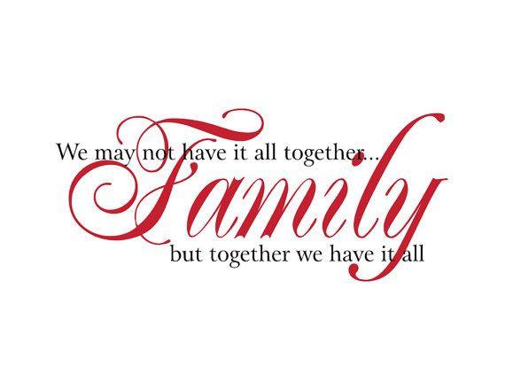 Family Vinyl Wall Decal We May Not Have It All Together Wall Quote Saying for Living Room Family Room Foyer 15Hx32W FS158