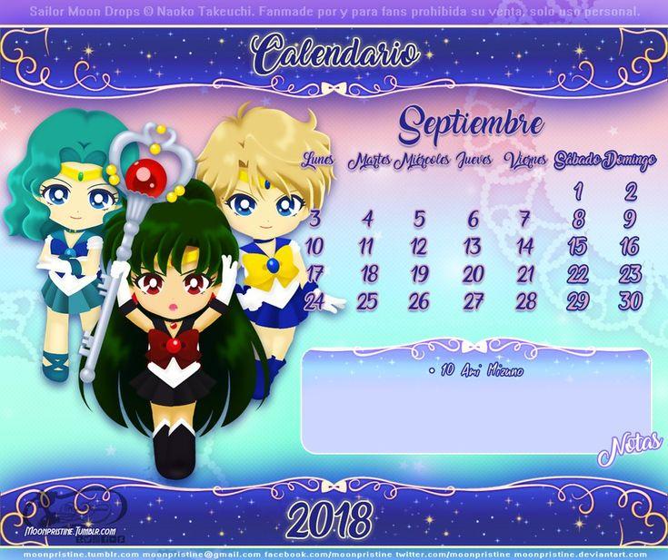 Sailor Moon Drops Calendario Septiembre by moonpristine