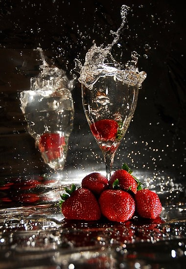 champagne and strawberries :)