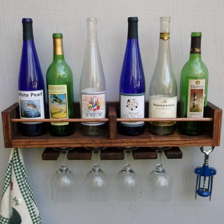 Reclaimed Red Oak Wine Rack