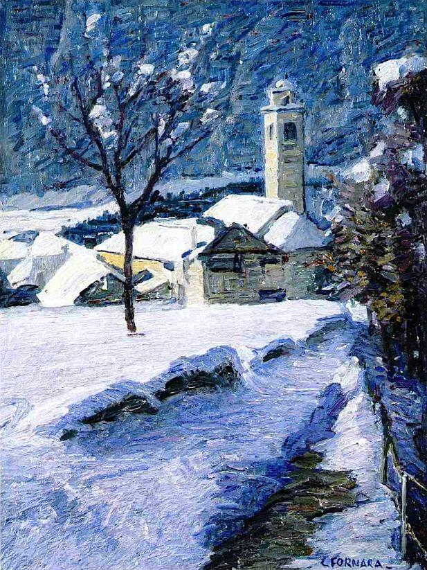 Snowfall in Prestinone Carlo Fornara