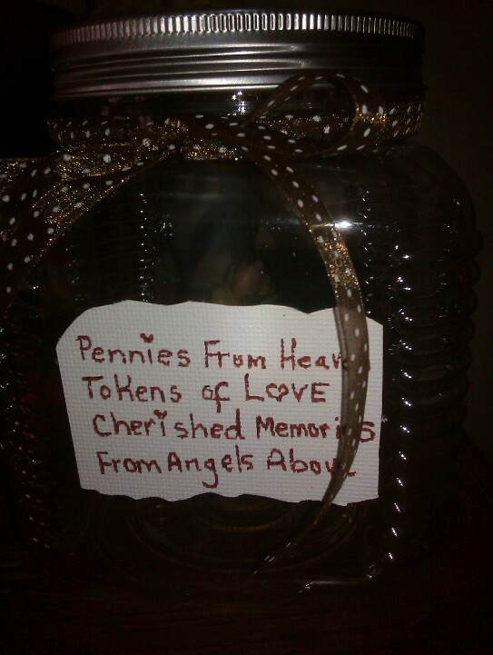 My Special Jar I Made For Keeping Penny S From Heaven In
