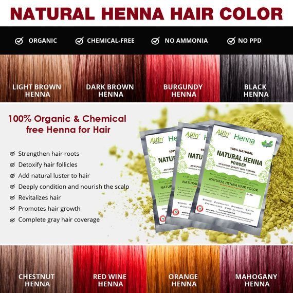 Henna Hair Color 100% Organic and Chemical Free by AllinExporters