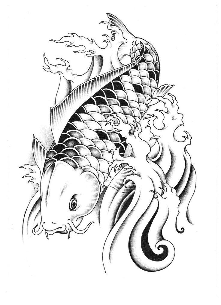 die besten 25 dragon koi fish ideen auf pinterest koi dragon tattoo japanischer drache und. Black Bedroom Furniture Sets. Home Design Ideas