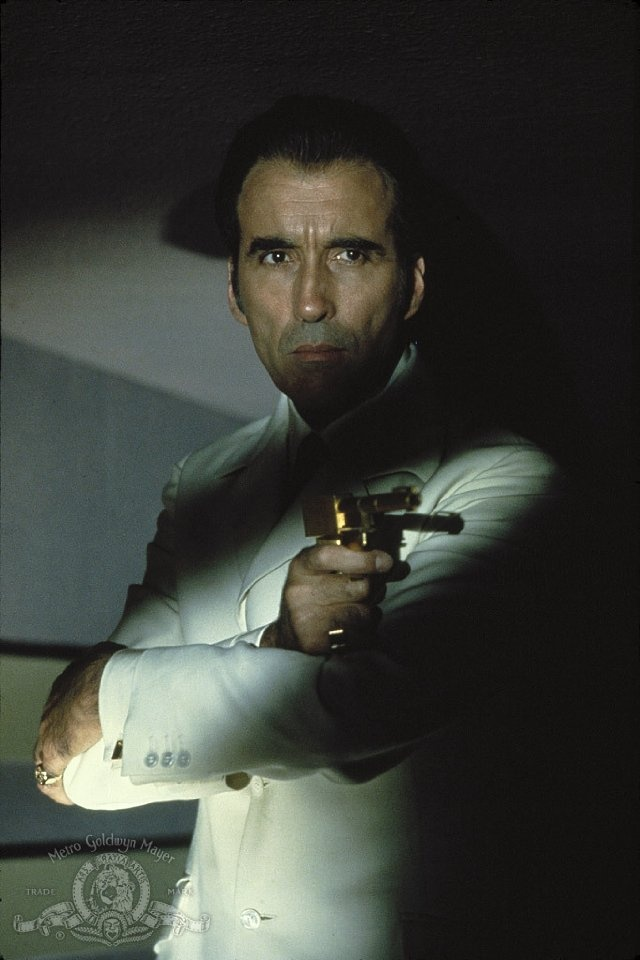 Christopher Lee as legendary Bond-villain Francisco Scaramanga in The Man with the Golden Gun (1974)