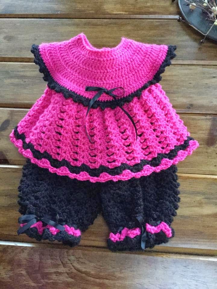 Northern Girl Stamper & Boutique: BABY CROCHET PINAFORE PANTS SET/ FREE Crochet pattern via Just Crochet