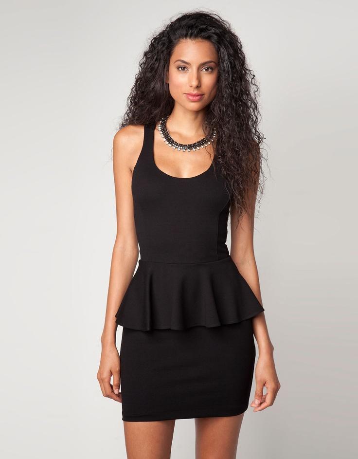 Bershka dress with ruffled waist