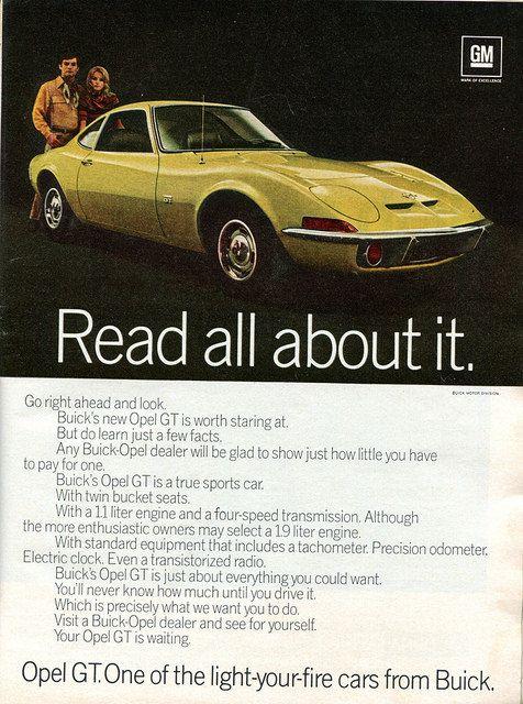 1970 buick opel gt advertisement newsweek april 20 1970