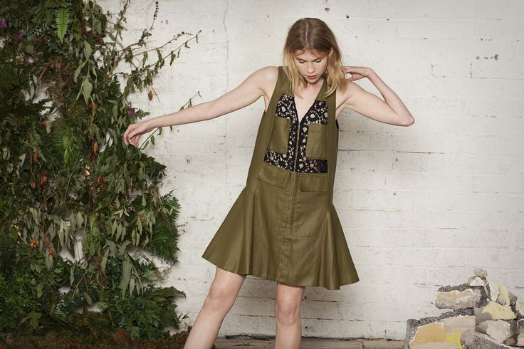 #model #dress #green #nature #fashion #dress