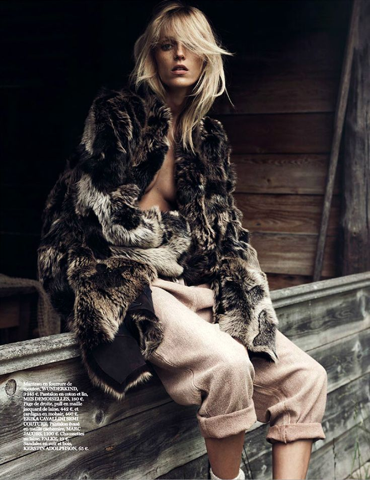 Photo Anja Rubik by Lachlan Bailey for Vogue Paris October 2014
