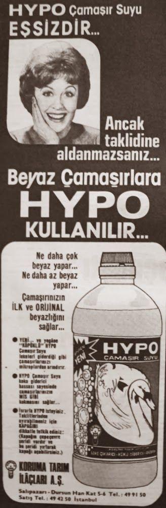OĞUZ TOPOĞLU : hypo çamaşır suyu 1977 nostaljik eski reklamlar