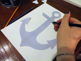 A Girl Named Wendy: HOW-TO: DIY Nautical Room Decor  make an anchor, sailboat, seashell, and fish
