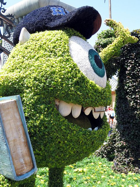 Monsters Inc Garden Bush Topiary