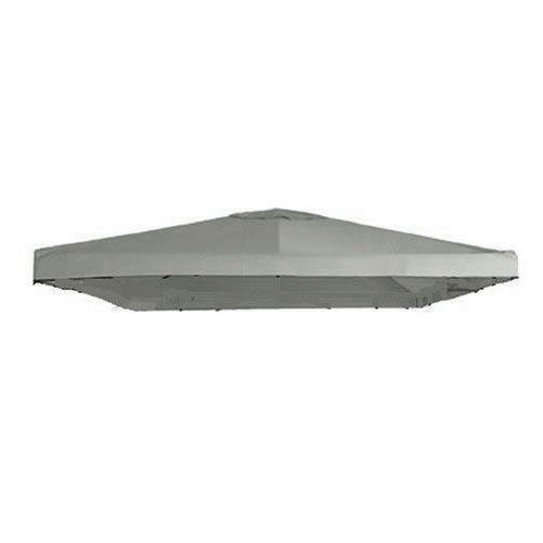 """Garden Winds Signature Series 10 x 10 Single Tiered Replacement Gazebo Canopy - SLATEGRAY by Garden Winds. $69.99. Velcro straps allow easy installation and attachment to gazebo.. The outer perimeter of the main canopy is 120"""" x 120"""".. Industry leading 350-Denier fabric (on average 25% thicker than original canopies). Do not settle for a lesser grade inferior universal canopy that may be $5 or even $10 cheaper.. Ventilated top allows for wind gusts.. THE MOST HIGHLY RATED UNIV..."""