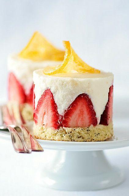 Strawberry dessert...beautiful presentation!