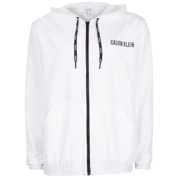 TOPMAN Calvin Klein White Windbreaker Jacket (320 ILS) ❤ liked on Polyvore featuring men's fashion, men's clothing, men's outerwear, men's jackets, white, mens white windbreaker jacket, mens windbreaker jacket, mens zip up jackets and mens white jacket