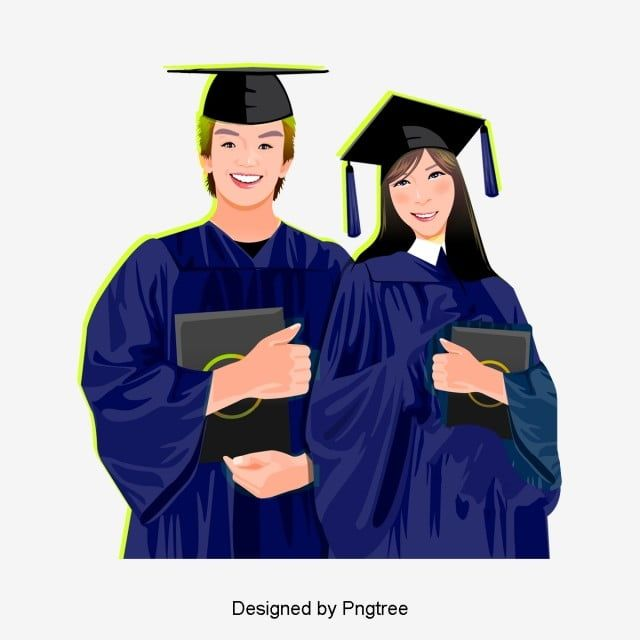 Hand Drawn Graduation Wear Bachelor S Clothing Student Vector College Student Graduation Cartoon Png Transparent Clipart Image And Psd File For Free Download Graduation Cartoon How To Draw Hands Bachelor Clothing