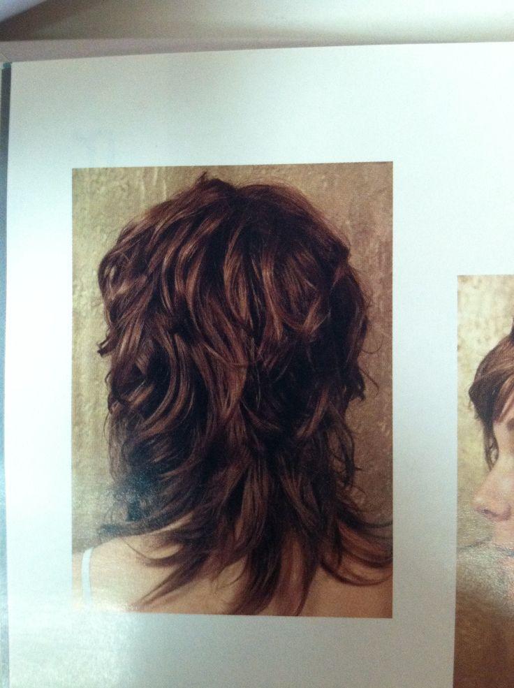 Wavy Shag Haircut Back View Curly Hair Pinterest