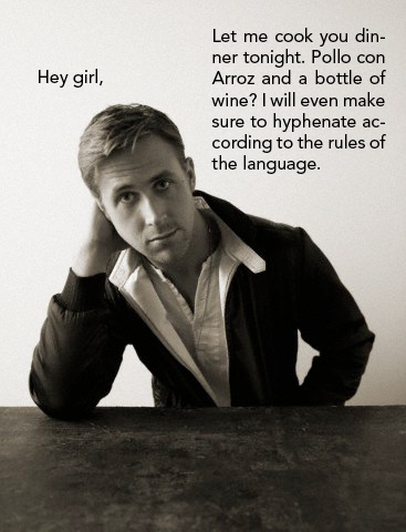 Typography, my favourite Gosling meme to date