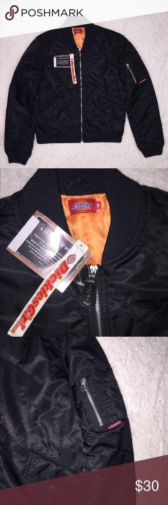 Dickies Black Jacket Black jacket with small zipper pocket on arm and zip front Dickies Jackets & Coats