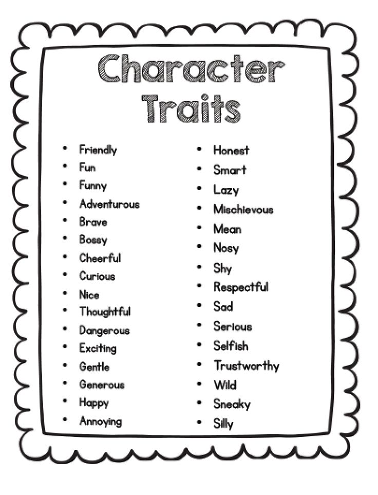 Best 25+ Teaching Character Traits Ideas Only On Pinterest