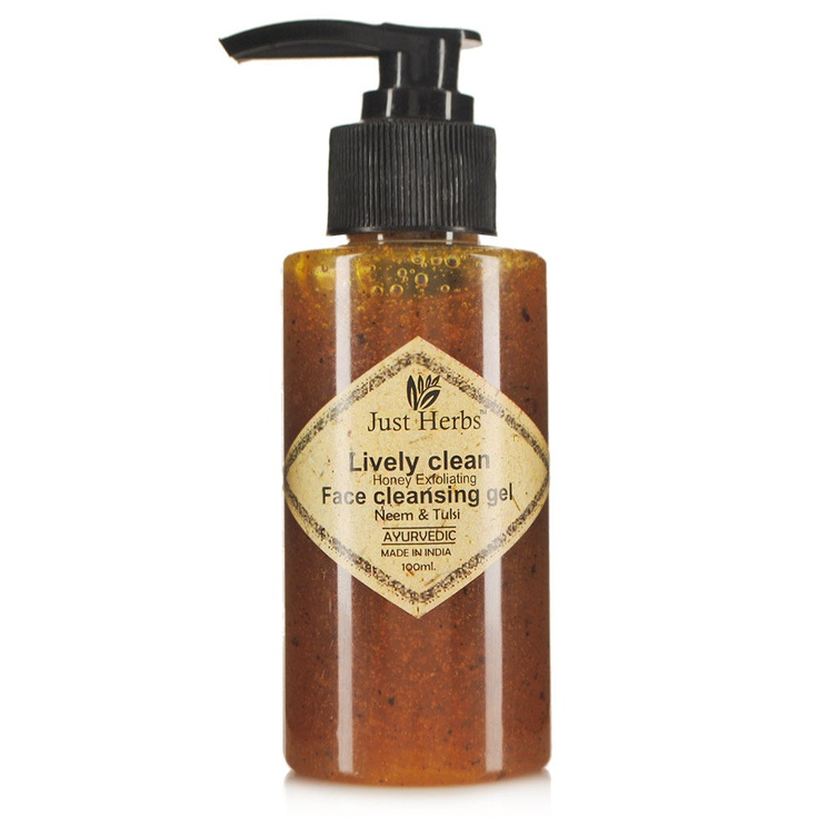 Buy Just Herbs Livelyclean Honey Exfoliating Face Cleansing Gel Online in India @ UrbanTouch.com