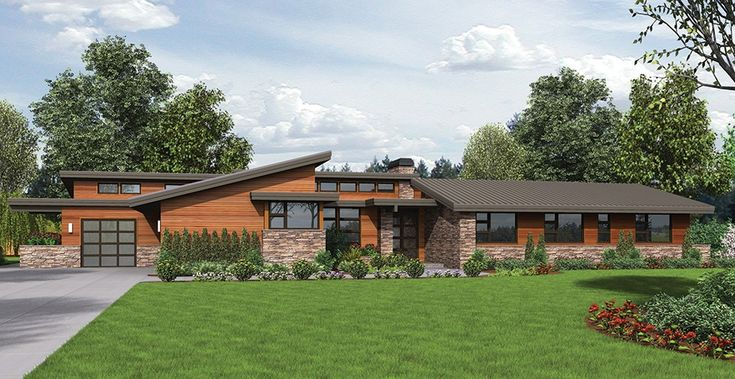 74 best 1 contemporary mid century modern ranch and for Modern raised ranch house plans
