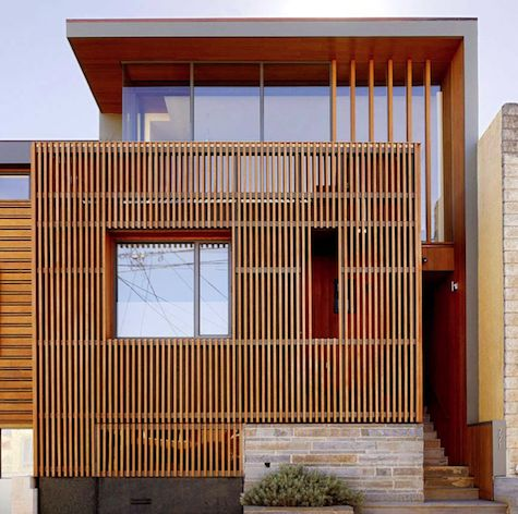 Owen Kennerly Renovation in San Francisco 9/21/2011via @Remodelista: Interior, Row House, Kennerly Renovation, Modern House, San Francisco, Outdoor Cedar, Cedar Screens