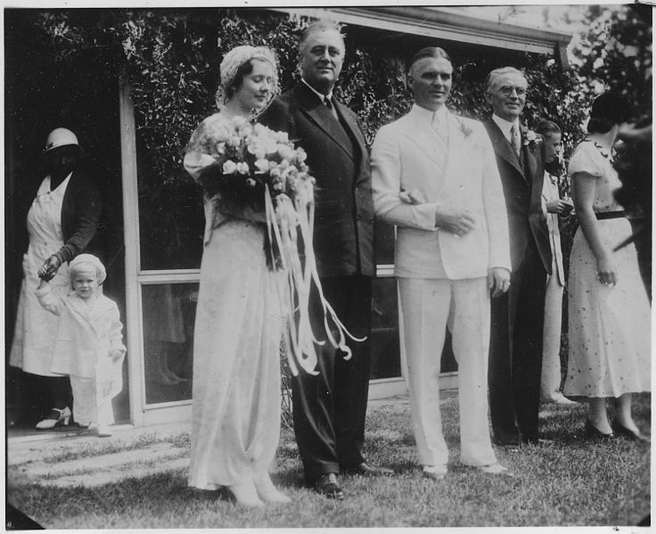 FDR With Earl Miller And His Bride At Val Kill Sept Was The Wedding Arranged By To Quiet Rumors Of Wifes Involvement