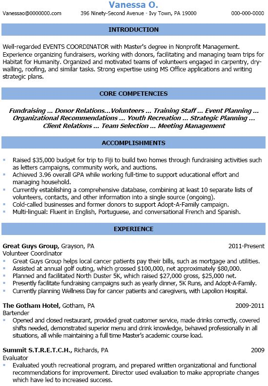 8 best resume images on Pinterest Planners, Infographics and - event manager resume
