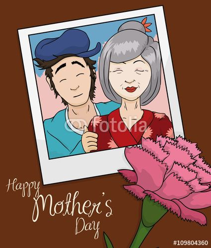 Beauty Memory Photo of Mom and Son in Mother's Day