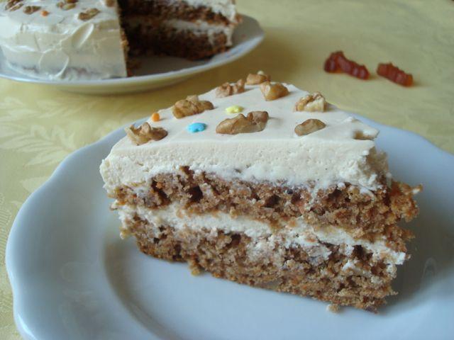 Wholegrain Carrot Cake | Celozrnný mrkvový dort - www.vune-vanilky.cz