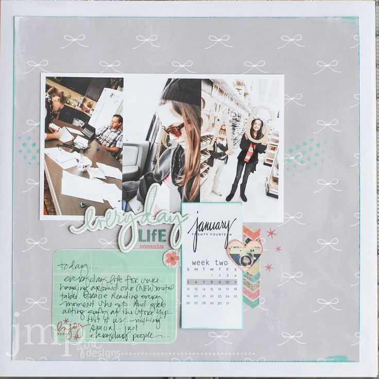 I like the idea of showcasing a week on one page. #yearinreview #scrapbooking