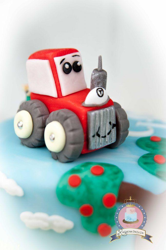Susse Bauernhoftorte Bauernhoftorte Torte Kindergeburtstag Junge Traktor Torte