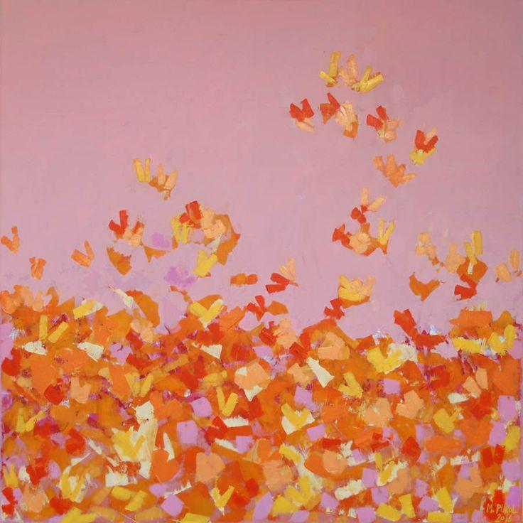 Akryl Butterflies Pink #butterflies #painting #pink #abstract #art