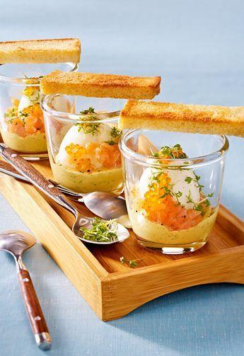 Eier im Glas nach skandinavischer Art