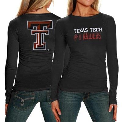 My U Texas Tech Red Raiders Ladies Black Literality Long Sleeve T-shirt