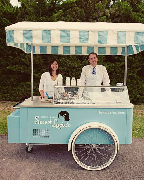 lovely vintage ice-cream cart