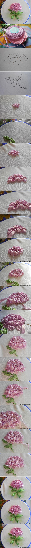 ribbon embroidery chrysanthemum tutorial: